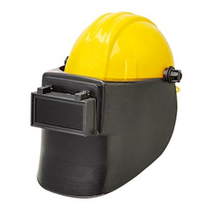 welding mask with helmet
