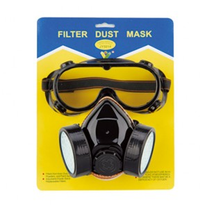 Double-Tank Dust Mask With Goggle